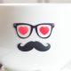 Kaffeetasse mit Bart