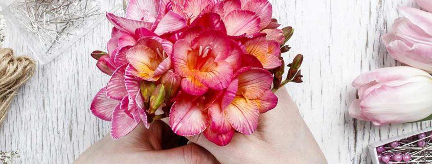 Valentinsgeschenk, Blumenstrauß,