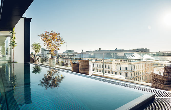 grand ferdinand hotel wien rooftop pool